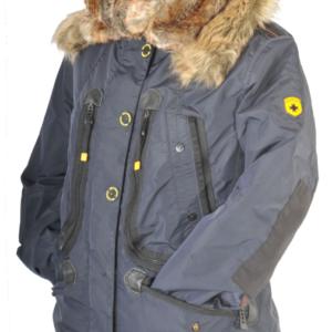 900782d7 High-class dun jakke med stor pels krave – Brasilera fra Wellensteyn