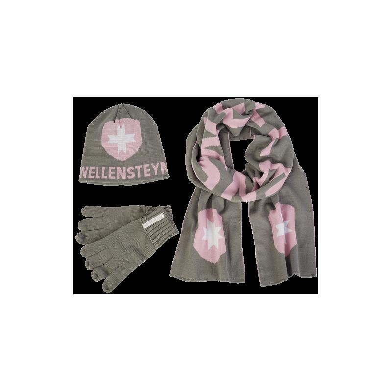 40c304e2555 Vinterklar - lækkert sæt med strikhue, vanter og halstørklæde fra ...